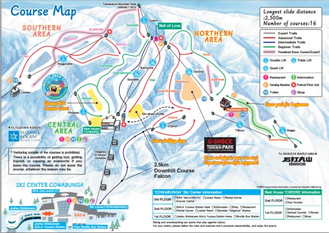 GALA Yuzawa Course Map
