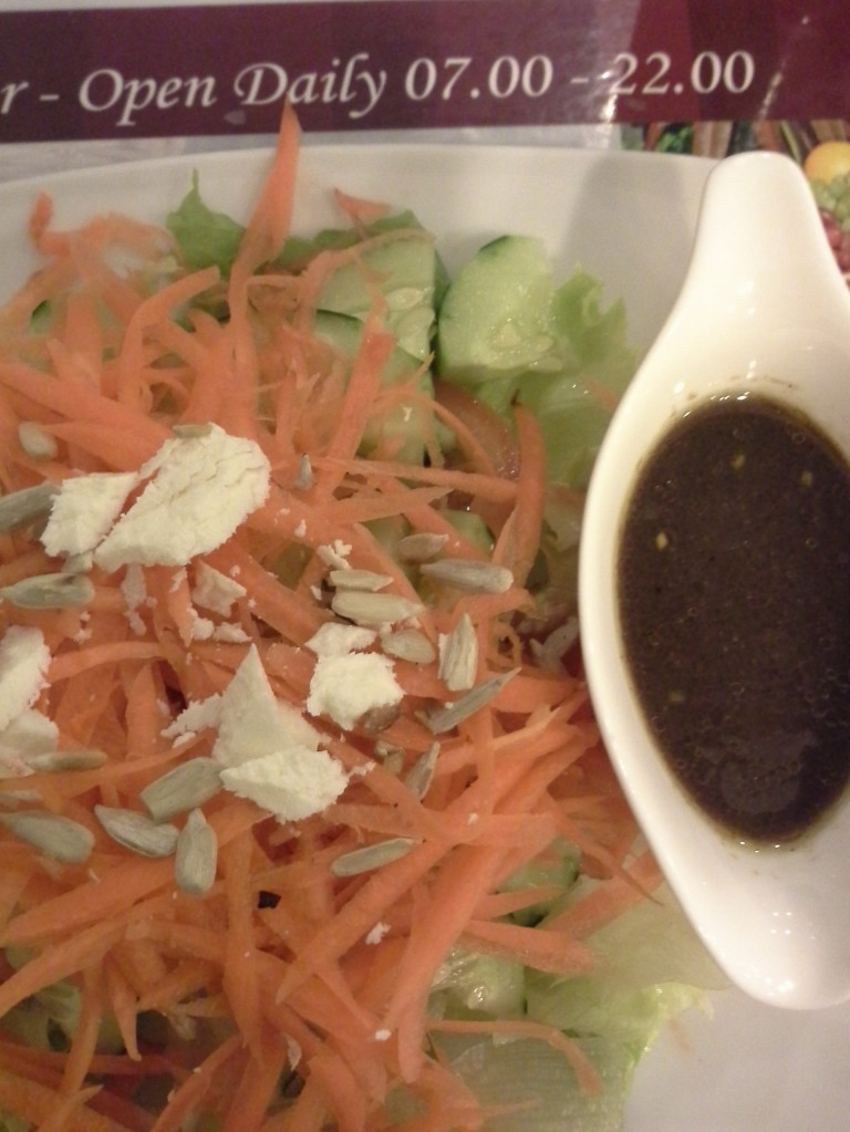 And yes of course 2 free salads :D. This salad is very crunchy and so fresh!