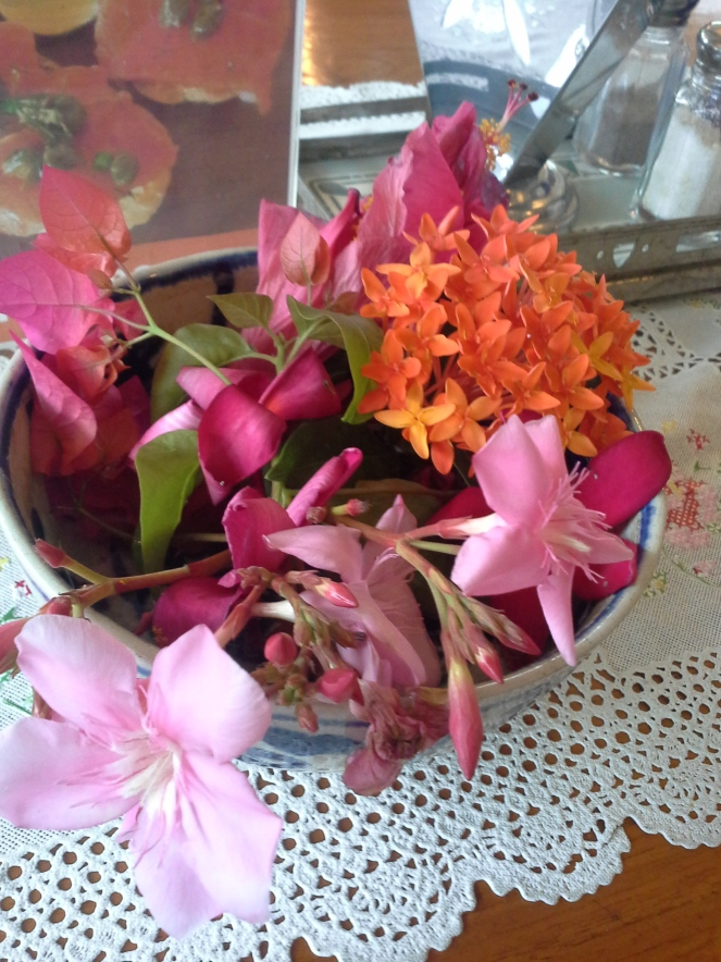 Tropic flower in our table