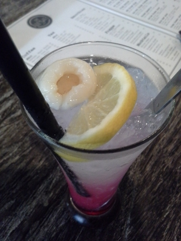 Extra lychee and lemon on Shirley Temple :D