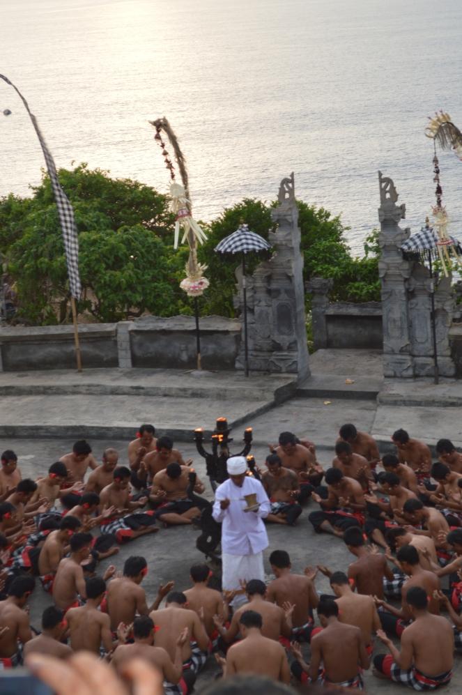 Praying before the dance start