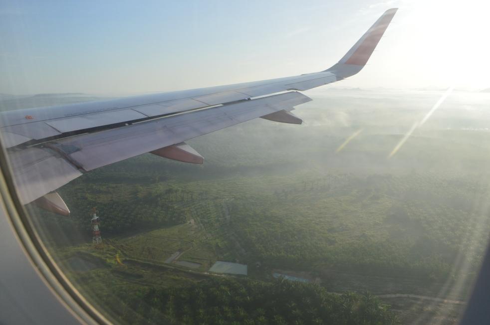 Pemandangan Krabi dari pesawat